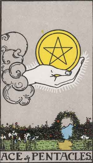 Which tarot cards indicate buying a new home? Ace of Pentacles