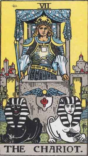 Which tarot cards indicate buying a new home? Chariot