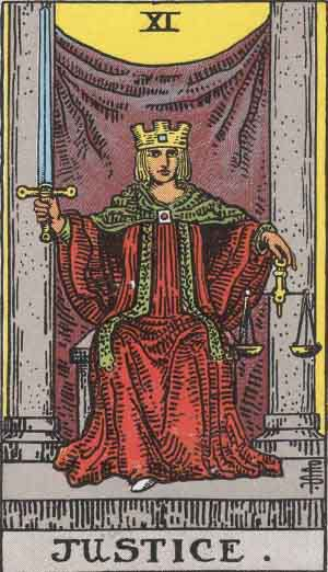 Which tarot cards indicate buying a new home? Justice