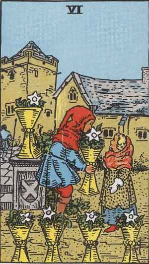Which Tarot Cards indicate children? Six of Cups