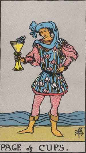 Which tarot cards indicate children? Page of Cups