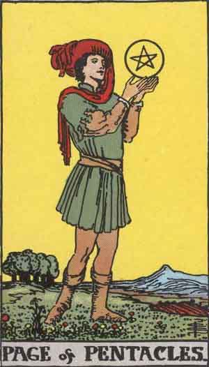 Which tarot cards indicate children? Page of Pentacles