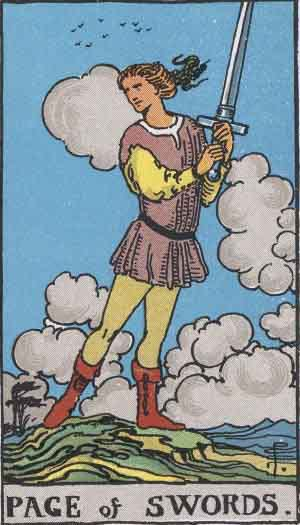 Which tarot cards indicate children? Page of Swords