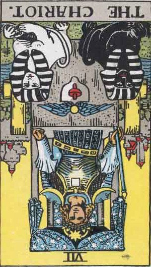 Which tarot cards indicate criminal activity? The Chariot reversed