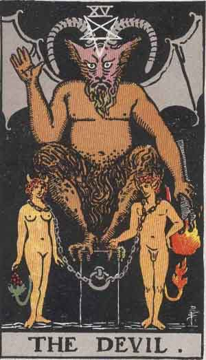 Which tarot cards indicate criminal activity? The Devil