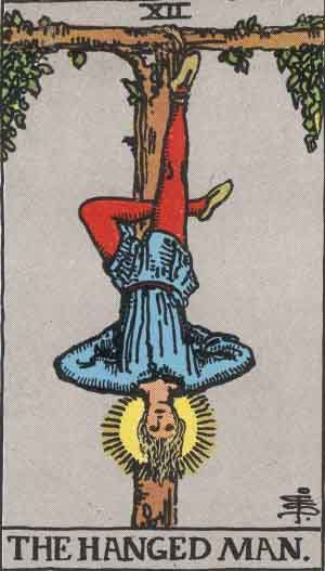 Which tarot cards indicate criminal activity? The Hanged Man