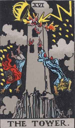 Which tarot cards indicate criminal activity? The Tower